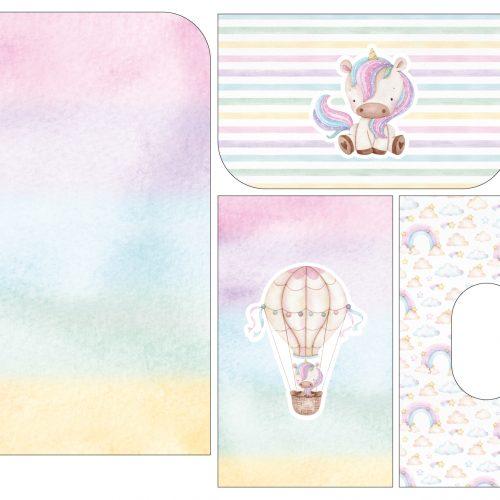 Tela Kit de maternidade Unicórnio pastel