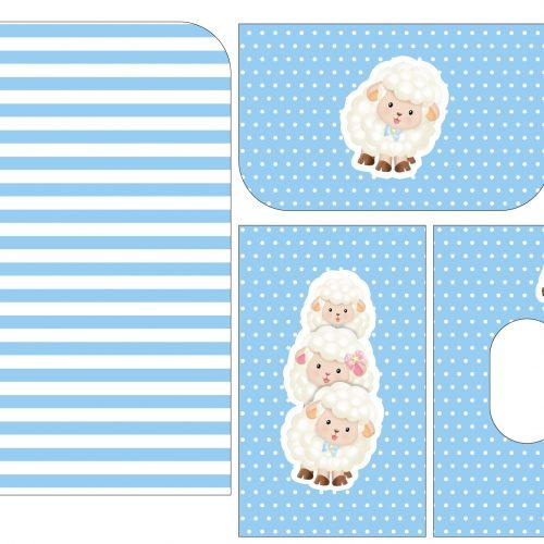 Tela Kit de maternidade Ovelha menino