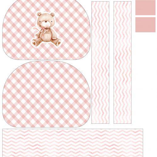 Tela Kit de Maternidade Ursinha pastel